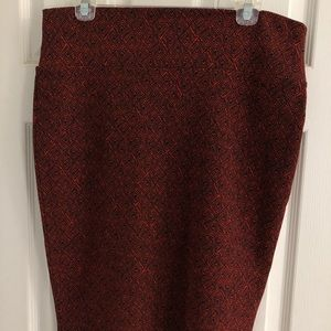 Lularoe Cassie Pencil Skirt- Size L
